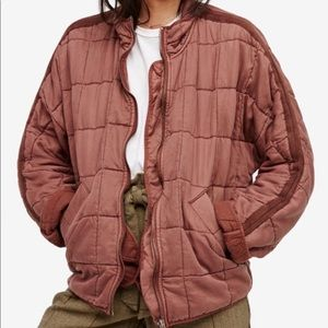 Free People Quilted Dolman TERRACOTTA